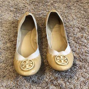 Tory Burch Shoes Caroline Beige Flats